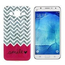 Smile glitters TPU hoesje Samsung Galaxy J5