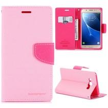 Goospery Roze Bookcase Hoesje Samsung Galaxy J7 2016