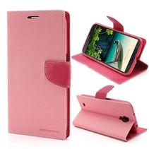 Mercury Booktype  hoesje roze Samsung Galaxy Mega 6.3