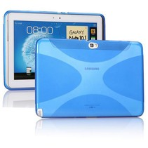 X-design blauwe TPU hoes Samsung Galaxy Note 10.1 (n8000/n8010)