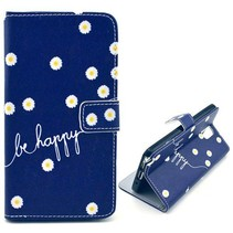 Be Happy Bookcase hoesje Samsung Galaxy Note 3
