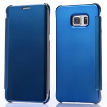 Blauw clear view Bookcase hoesje Samsung Galaxy Note 5