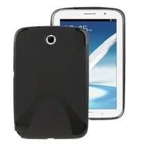 Zwarte X-line TPU hoes Samsung Galaxy Note 8.0
