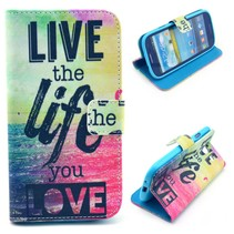 Live the Life you Love Booktype  Samsung Galaxy S3 (Neo)