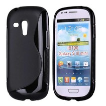 S-line zwart TPU hoesje Samsung Galaxy S3 Mini