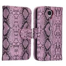 Slangenleer roze Booktype  Samsung Galaxy S4