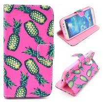 Ananas roze Booktype  hoesje Samsung Galaxy S4