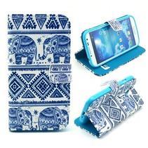 Blauwe olifanten Bookcase hoes Samsung Galaxy S4