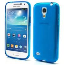 Blauw/transparant hoesje Samsung Galaxy S4 mini