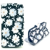 Witte bloemen Booktype  Samsung Galaxy S4 mini