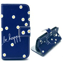 Be happy Booktype  hoesje Samsung Galaxy S4 mini