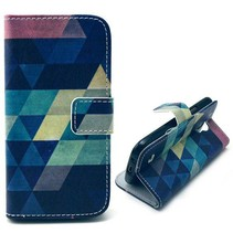 Colorful triangle Booktype  Samsung Galaxy S4 mini