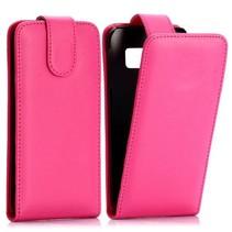 Roze Flip Case hoesje Samsung Galaxy S6 Edge