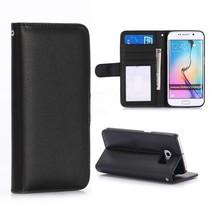 Zwarte gladde book case Samsung Galaxy S6 Edge