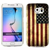 Usa vlag TPU hoesje Samsung Galaxy S6 Edge