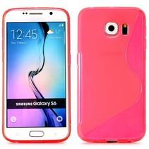 Roze S-design TPU hoesje Samsung Galaxy S6 Edge