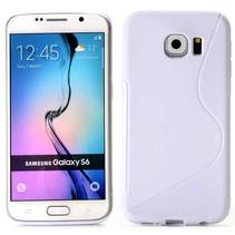 Wit S-design TPU hoesje Samsung Galaxy S6 Edge