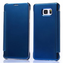 Blauwe clear view Bookcase hoes Samsung Galaxy S6 Edge Plus