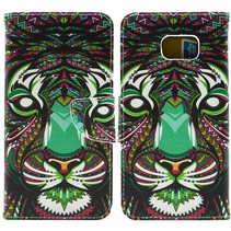Tribal tijger Booktype  hoes Samsung Galaxy S6 Edge Plus