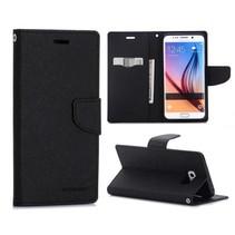 Fancy diary zwart Booktype  hoes Samsung Galaxy S6 Edge Plus