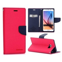 Fancy diary roze / blauw Booktype  hoes Samsung Galaxy S6 Edge Plus