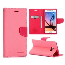 Fancy diary roze Booktype  hoes Samsung Galaxy S6 Edge Plus