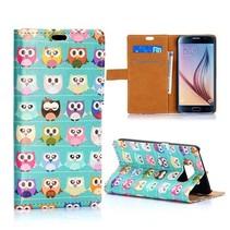 Kleurrijke uiltjes Booktype  hoesje Samsung Galaxy S6