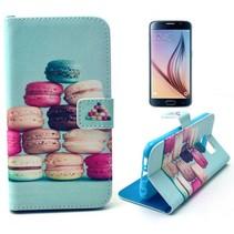 Kleurrijke gebakjes Booktype  hoes Samsung Galaxy S6