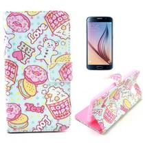 Snoepgoed design Booktype  hoes Samsung Galaxy S6