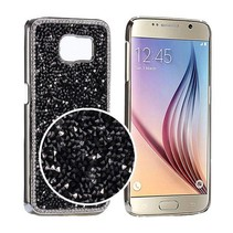 Zwart bling bling diamantjes hardcase hoesje Samsung Galaxy S6