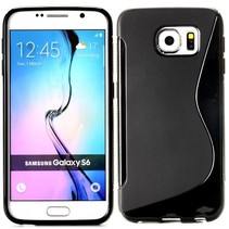 Zwart S-design TPU hoesje Samsung Galaxy S6