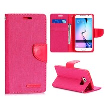 Canvas book type roze Samsung Galaxy S6