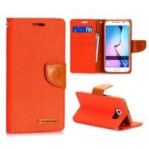 Canvas book type oranje Samsung Galaxy S6
