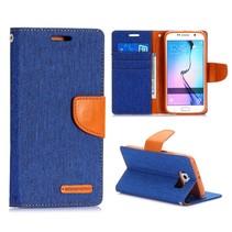 Canvas book type blauw Samsung Galaxy S6