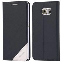 Zwart / wit Bookcase hoesje Samsung Galaxy S6