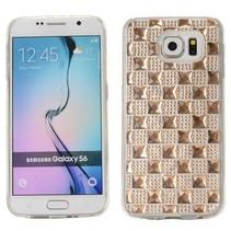 Champagne diamanten TPU hoesje Samsung Galaxy S6