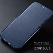 Blauw Slim Bookcase Hoesje Samsung Galaxy S7 Edge