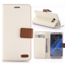Diary Series Wit Bookcase Hoesje Samsung Galaxy S7 Edge
