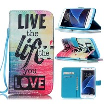 Live the Life you Love Bookcase Hoesje Samsung Galaxy S7 Edge