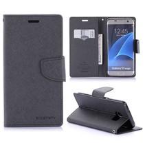 Fancy Diary Zwart Bookcase Hoesje Samsung Galaxy S7 Edge