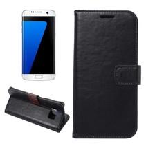 Zwart Zakelijk Bookcase Hoesje Samsung Galaxy S7 Edge