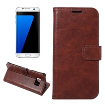 Bruin Zakelijk Bookcase Hoesje Samsung Galaxy S7 Edge