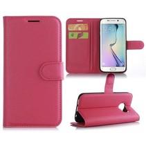 Roze Litchi Bookcase Hoesje Samsung Galaxy S7 Edge