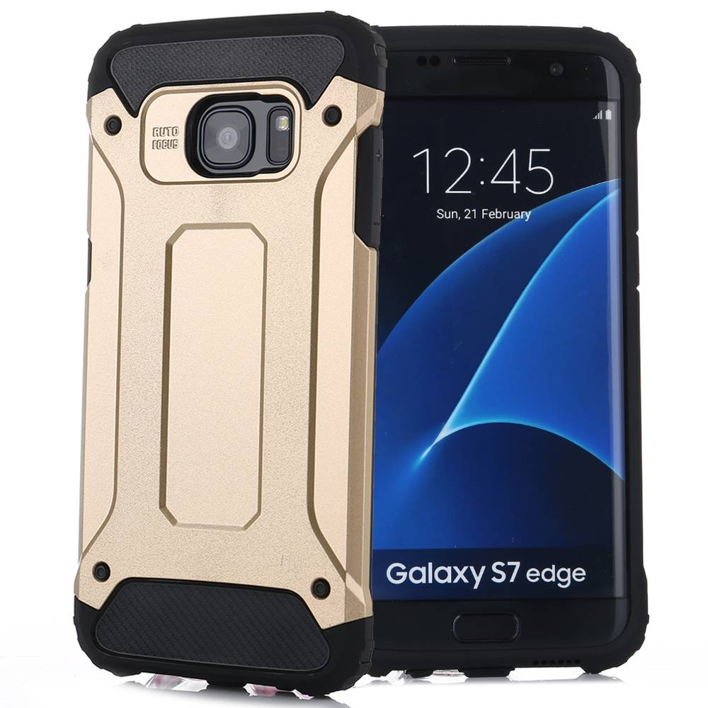 Goud Hybrid Hoesje Samsung Galaxy S7 Edge