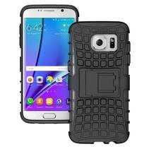 Zwart Hybrid Hoesje Samsung Galaxy S7 Edge