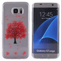 Red Leaves TPU Hoesje Samsung Galaxy S7 Edge