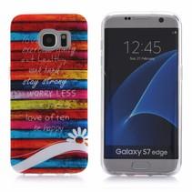 Kleurrijke Planken TPU Hoesje Samsung Galaxy S7 Edge