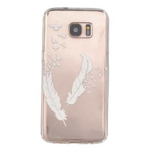 Witte Veertjes TPU Hoesje Samsung Galaxy S7 Edge