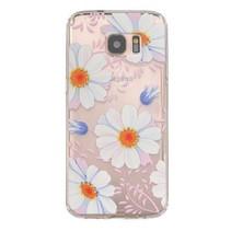 Witte Bloemen TPU Hoesje Samsung Galaxy S7 Edge