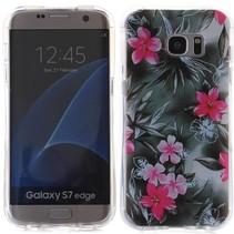 Roze Bloemen TPU Hoesje Samsung Galaxy S7 Edge